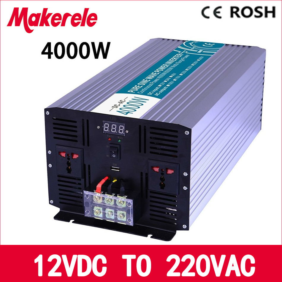 MKP4000-122 off-grid pure sine wave 4000w power inverter 12v to 220v voltage converter,solar inverter LED Display накопительный водонагреватель zanussi zwh s 15 melody u yellow
