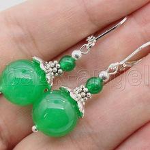 Free shipping Jewelry Green Dangle & Chandelier Earring AAA