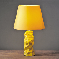New Modern Fashion Creative Minimalism Yellow Ceramic Fabric Led E14 Table Lamp For Bedroom Living Room Coffee Bar H 47cm 1076