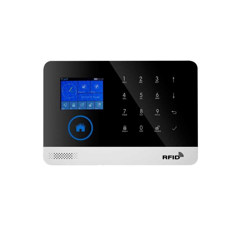 Wireless door sensor Home Security system alarm TFT Display Wired Siren Kit  SIM SMS WIFI GSM burglar Alarm APP Remote Control