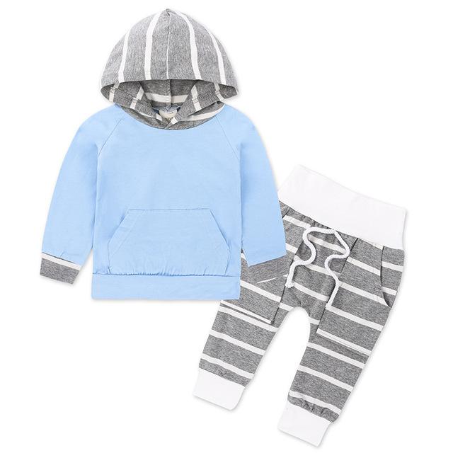 Cotton Striped Clothing Set