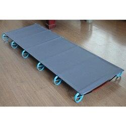 الساخنة في الهواء الطلق سرير قابل للطي التخييم حصيرة خفيفة سرير مفرد سرير متين مريح المحمولة مستلزمات النوم مع الألومنيوم الإطار