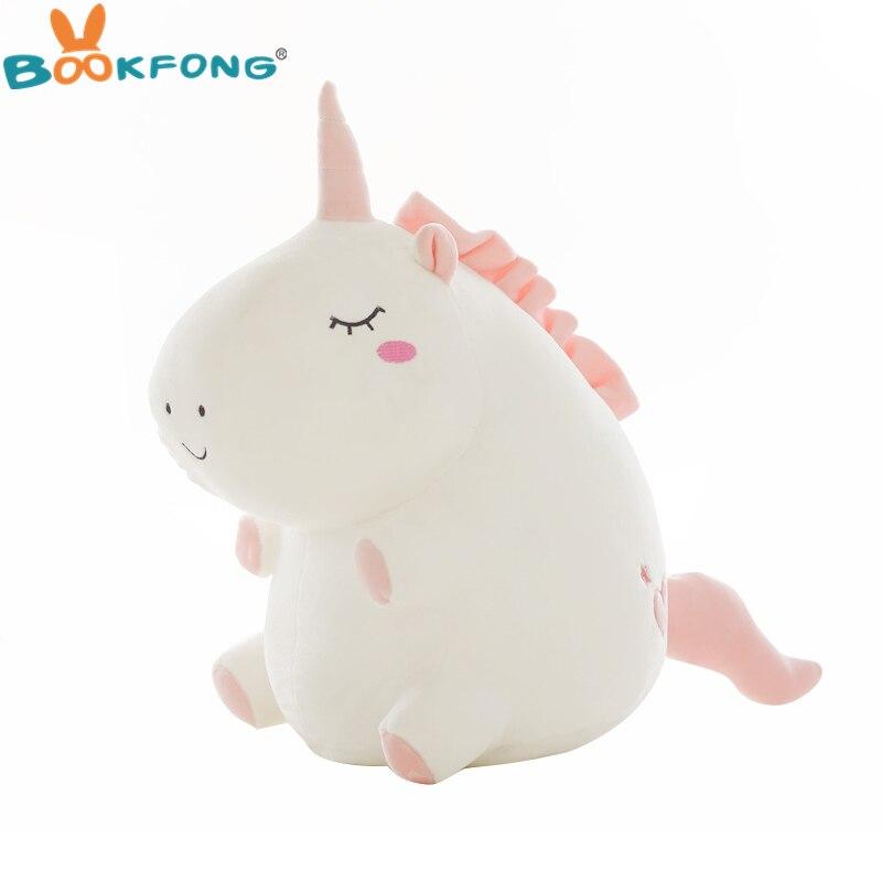 1 unid PC lindo unicornio de peluche de juguete gordo unicornio muñeca Animal lindo peluche suave almohada bebé juguetes para niños niña cumpleaños regalo de Navidad