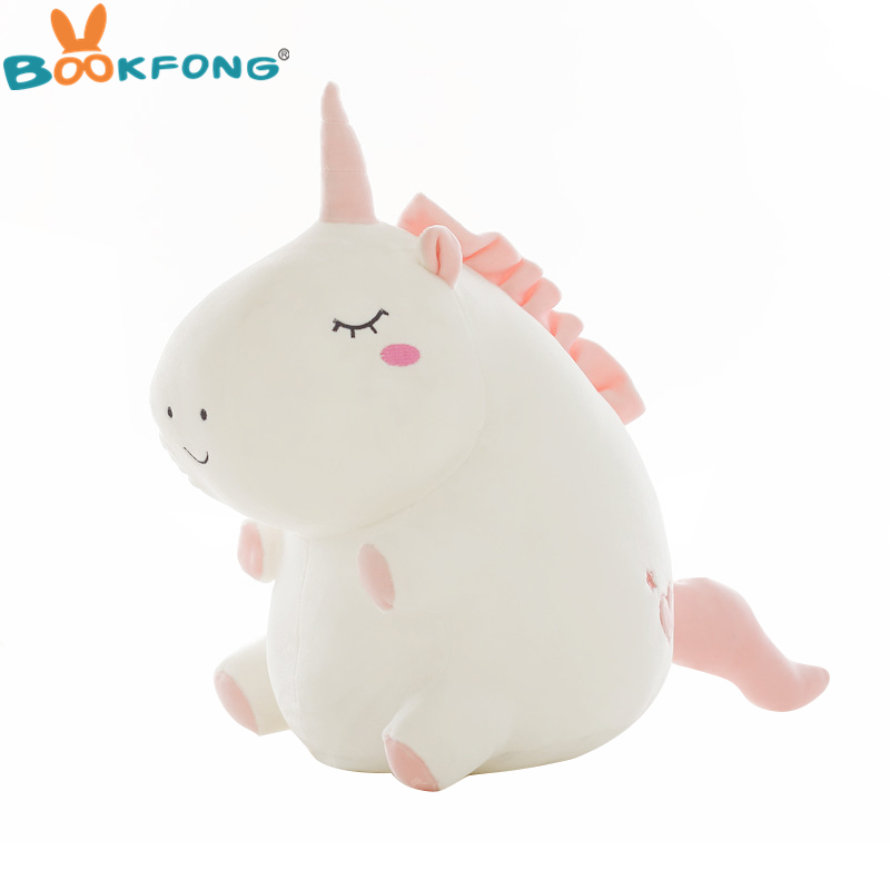 1pc Cute Unicorn Plush Toy Fat Unicorn Doll Cute Animal Stuffed Soft Pillow Baby Kids Toys For Girl Birthday Christmas Gift cute dinosaur plush doll girl toys stuffed animals baby soft toy peluches grandes birthday gift knuffels toys for kids 50g0440