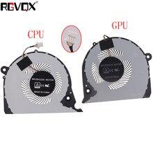 ORIGINAL NOVO GPU CPU VENTILADOR de REFRIGERAÇÃO PARA Dell Inspiron G7 15-7000 7577 7588 G5-5587 P72F cooler fan 2JJCP FJQS DC5V 0.5A FJQT