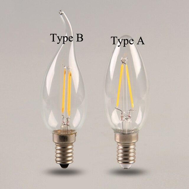 10 Teile Los Dimmbare 2 Watt 4 Watt 6 Watt E14 Cob Led Filament