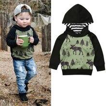 Baby Boys Hooded Sweatshirt Reindeer Autumn