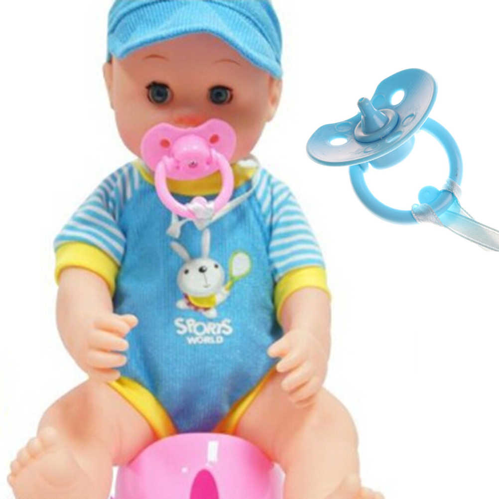 Pink Blue Color Pacifier Dummy For Reborn Baby Dolls Not Magnet for Babies Pacifier Kids Children Play Toys