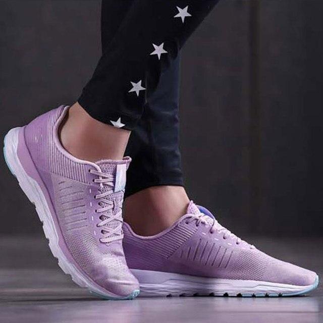 لى نينغ النساء الآس تشغيل احذية الجري ضوء الوزن يمكن ارتداؤها بطانة أحذية رياضية اللياقة البدنية تنفس رياضية ARBN006 SAMJ18