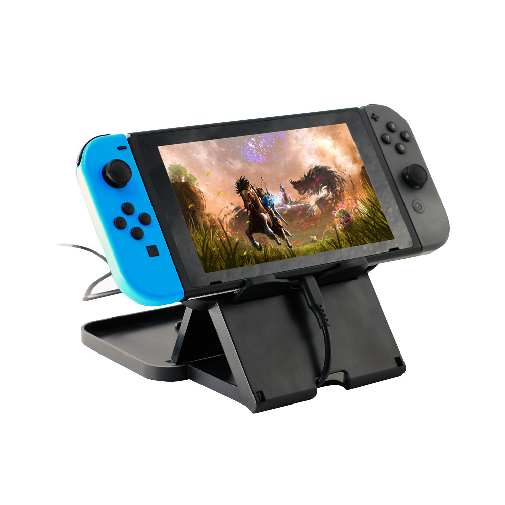 Sanchow Anti-Slip Compact Playstand for Nintend Switch NS Console Multi-angle Adjustable Stand Holder Dock Game Accessories