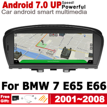 HD Screen Stereo Android 7.0 up Car GPS Navi Map For BMW 7 E65 E66 2001~2008 CCC Original Style Multimedia Player Auto Bluetooth