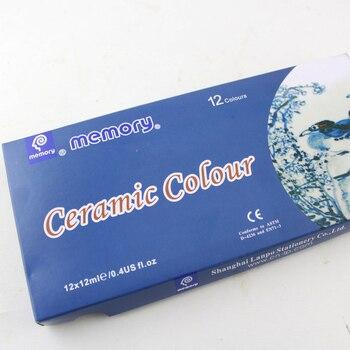 12 Colores 12ML Color Set Acrílico Pintura Cerámica Pintura Vidrio Pintura Color Vidrio Dibujo A Mano Pigmentos Para Pintar