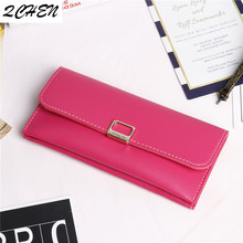 Women's wallet pu Shipping women Buckle wallet made fashion female long wallet for phone cards money bags lady wallets purse 489 fashion noctiluc wallets women long purse clutches embossing female zipper wallet money bags for woman cards purse and hand bags