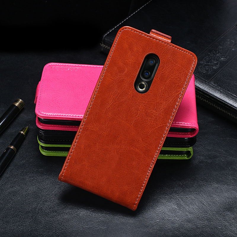 IDEWEI For Meizu 16 Case Cover Luxury Leather Flip Case For Meizu 16th M882Q Protective Phone Case Back Cover 6.0