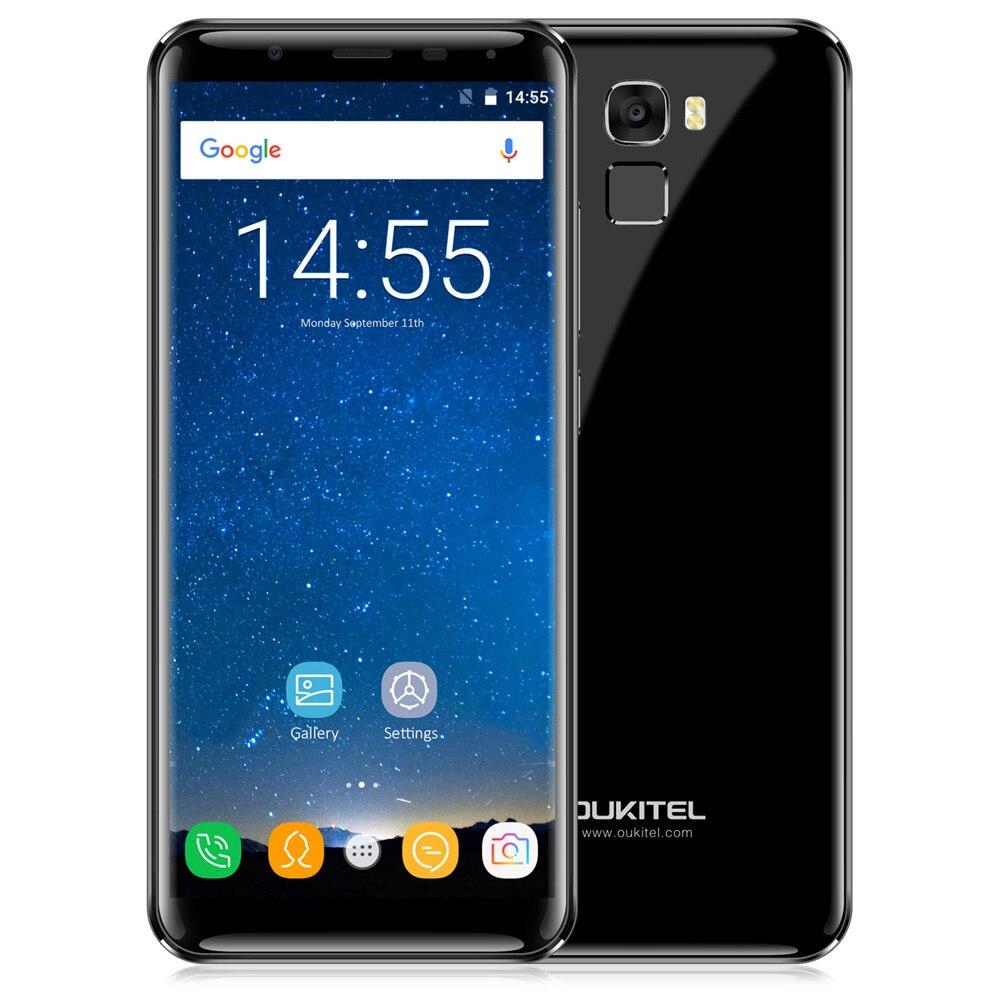 OUKITEL K5000 4G Phablet Android 7.0 5.7 pouces MTK6750T Octa Core 1.5 GHz 4 GB RAM 64 GB ROM 16.0MP caméra arrière D'empreintes Digitales Scanner