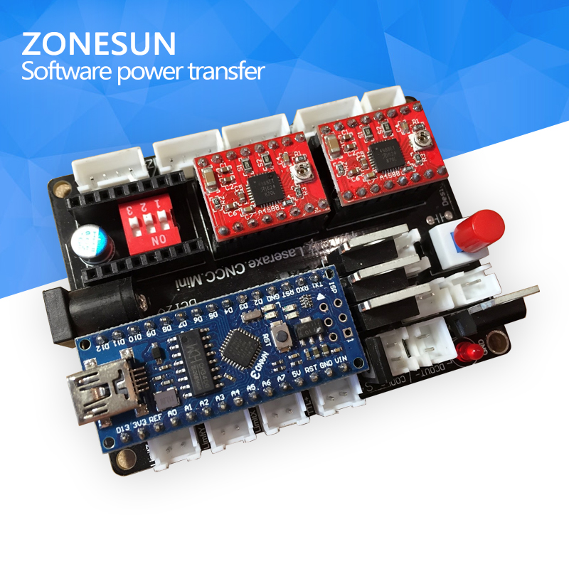 ZONESUN DIY desktop laser engraving machine, marking machine carving machine 3 axis micro step motor drive control motherboard high quality southern laser cast line instrument marking device 4lines ml313 the laser level