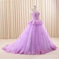 2017 Ball Gown Purple Evening Dresses Sweetheat Sleeveless Pleat Sweep Train Women Simple Evening Gowns Long Abendkleider