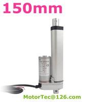 12V 24V 6mm S Speed 100mm Stroke 1500N 150KG 330 Lbs Load Waterproof Electric Dc Linear