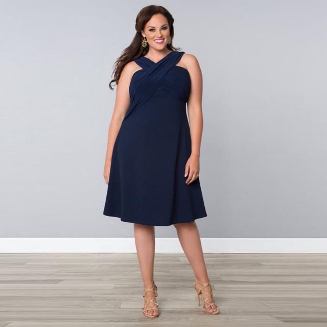 2016 Dinâmica Design Tea-Length A Linha Rosa Azul Do Plus Size Mãe Da Noiva Vestidos de Festa À Noite Chiffon
