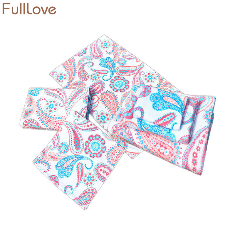 Us 28 16 49 Off Fulllove 3pcs Set Floral Printed Towel Set Cotton Pink Soft Absorbent Hand Face Bath Towel Bathroom Kitchen Towels Home Textile In