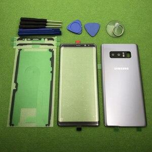 Image 5 - 삼성 Galaxy Note 8 N950 N950F 기존 전면 스크린 유리 렌즈 Note8 후면 배터리 커버 도어 후면 하우징 + 스티커 도구
