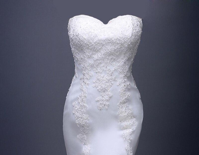 Increíble Vestido De Fiesta De Cola De Pescado Blanco Ornamento ...