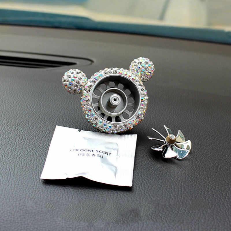 MR ÇAY Yaratıcı Hava Spreyi Kristal Elmas Katı Koku Koku Çıkış Vent Klip Styling Hava Kuvvetleri Fan Parfüm Otomatik İç