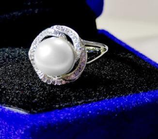 T710 flash 925 silver ring zircon ring