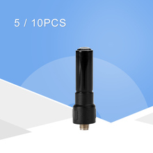 10pcs walkie talkie baofeng uv5r 888s two way radio antennas thumb S802 short antenna SMA female antenna