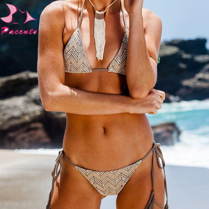 Pacent Sexy Brazilian Bikini Strappy Լողազգեստ Կանացի - Սպորտային հագուստ և աքսեսուարներ - Լուսանկար 1