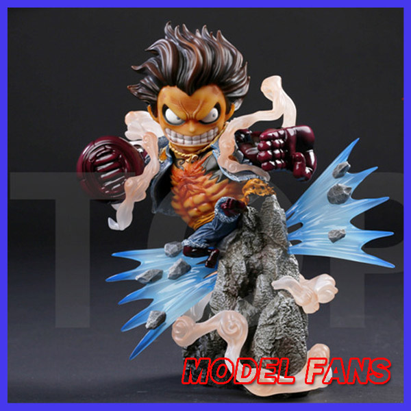 MODEL FANS instock one piece sd version 23cm Gear fourth Monkey D Luffy gk resin statue Figure for Collection