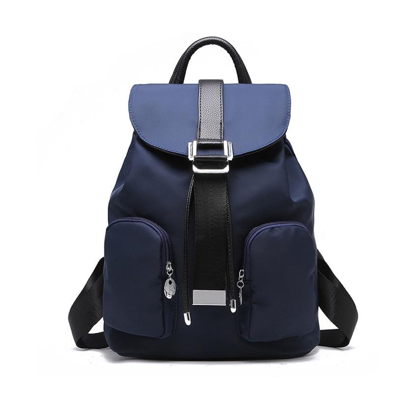 Preppy Style Women Backpack Waterproof Nylon Backpack Lady Teenage ... 9f653840409d3