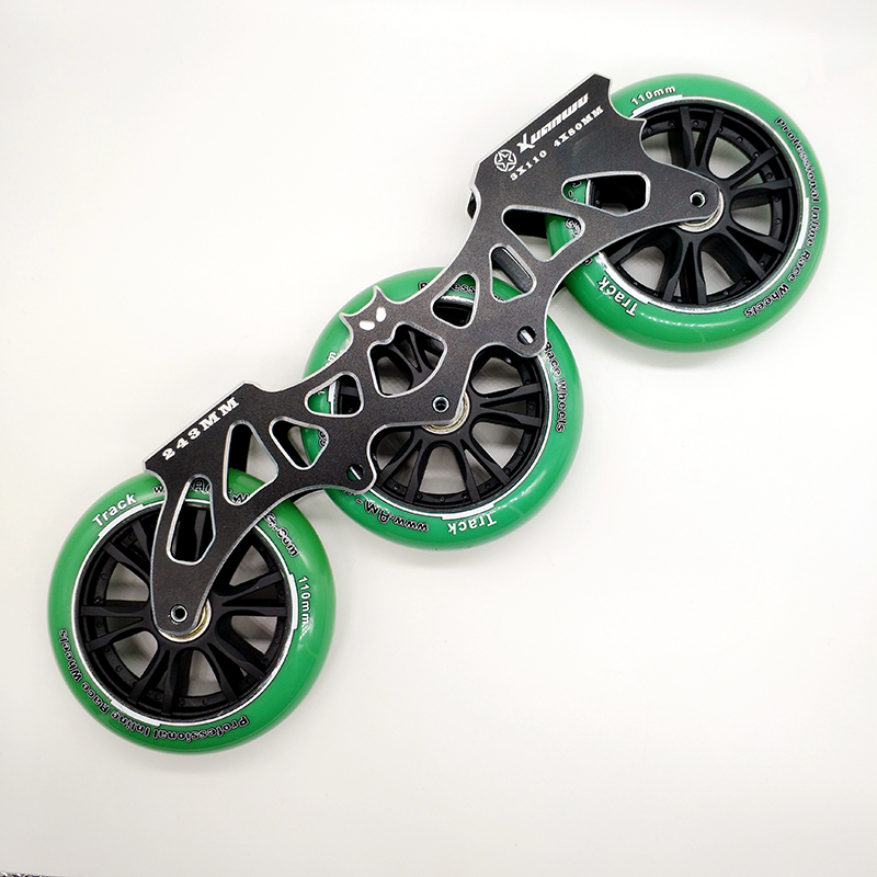 free shipping speed skates frame 243 mm bat frame with wheels 3x110 цена и фото