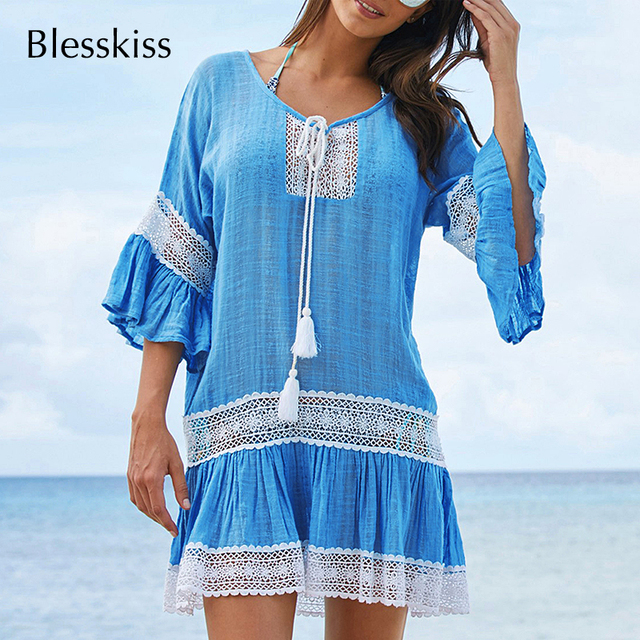 BlessKiss Summer Lace Beach Dress Cover-Up 3