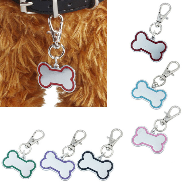 Pet id tag for dog Hot Sale ID Tags Popular Bones Puppy Rhinestone 2017 New label hot Pendant Lovely Pet ID Tags Free Shipping
