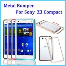 Для Sony Z 3 Компактный Бампер Push Pull Металла Алюминиевый Бампер Случае Для Sony Xperia Z3 Mini D5803 D5833 + Стекло Экран Фильма