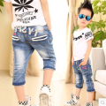 Free Shipping The new 2015 Children With Cowboy Summer Cuhk Child m flag 7 minutes of Pants Boy tide