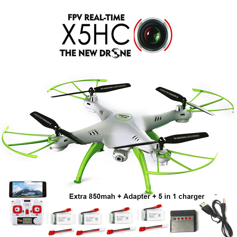 SYMA X5HC RC Quadcopter Drone with Camera 2.4G 6-Axis RC Helicopter + 850mah Syma battery VS Syma X5SC X5C Upgrade vision все цены