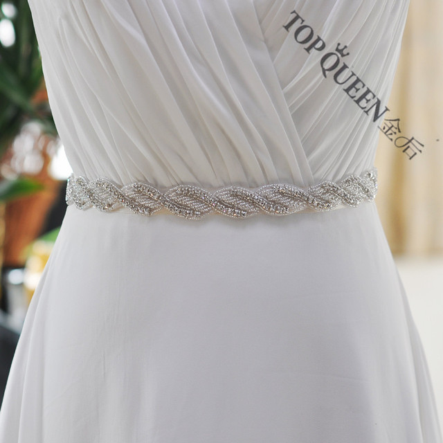 TOPQUEEN S272 Free shipping Wedding Dress Belt  Crystal Rhinestone Bridal Sash  Wedding Dress Accessories