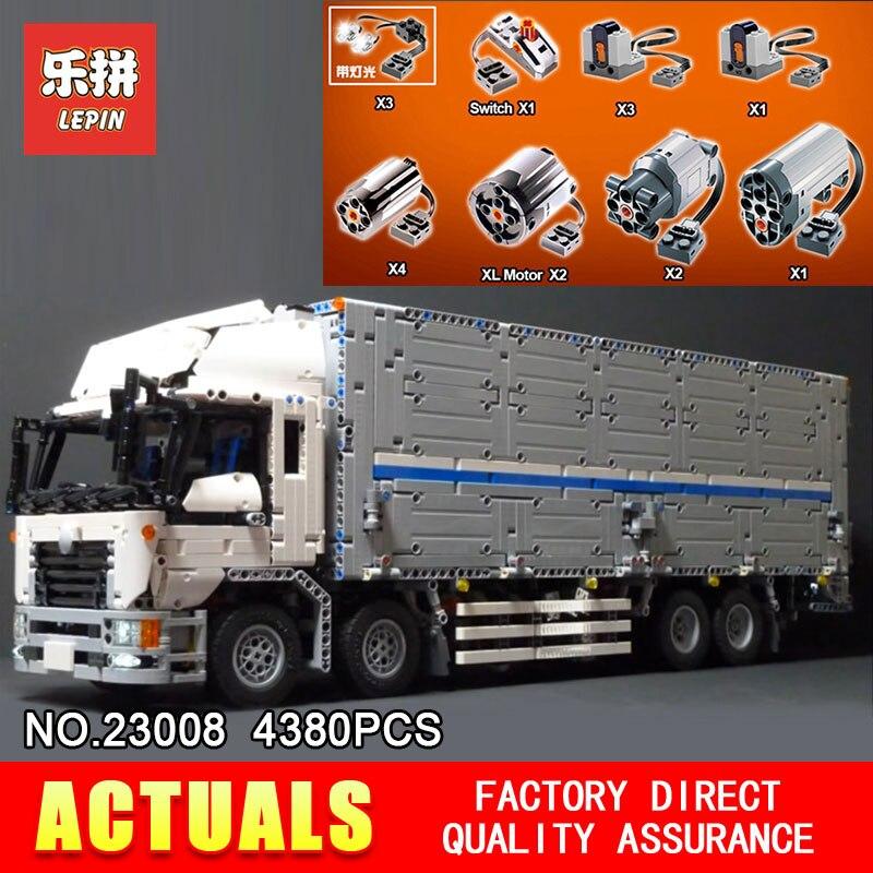 Nouveau LEPIN 23008 technic série 4380 pièces MOC camion modèle blocs de construction briques kits Compatible garçon brithday cadeaux 1389