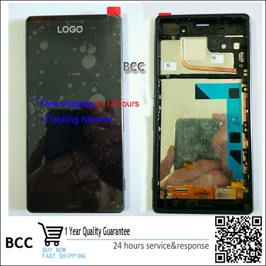 ФОТО 100% Original Warranty LCD Display Touch Screen Digitizer with frame For sony Xperia z3 Godd quality with tracking no.
