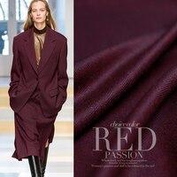 150 cm largeur 340 g/m poids vin rouge couleur peignée Chevrons 100% laine matériaux costume d'affaires vêtements BRICOLAGE tissus Freeshipping