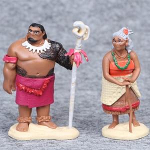 Image 2 - Disney 6pcs/set 6 12cm Cartoon Movie Vaiana Moana Princess Maui Chief Tui Tala Heihei Pua Action Figure Decoration Toys For Kids