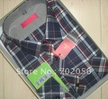 Men's Checker Cotton Casual shirts dress shirt 5pcs/lot #2332