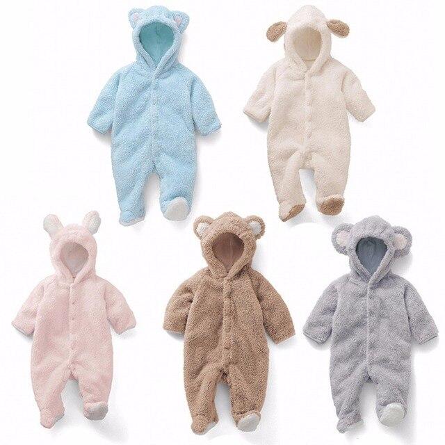 1592ae958 Puseky Infant bebé Niños Niñas mono oso bebe recién nacido Ropa con capucha  Bebé Ropa mameluco