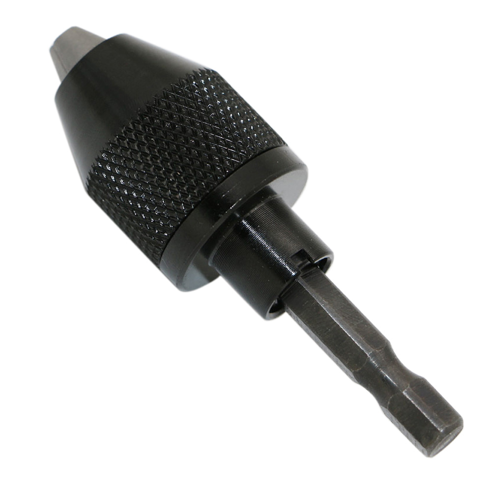 New 0.3-6.0mm Mini Electric Grinder Drill Chuck 6.35mm Keyless Drill Bit Chuck Quick Change Adapter Converter Hex Shank