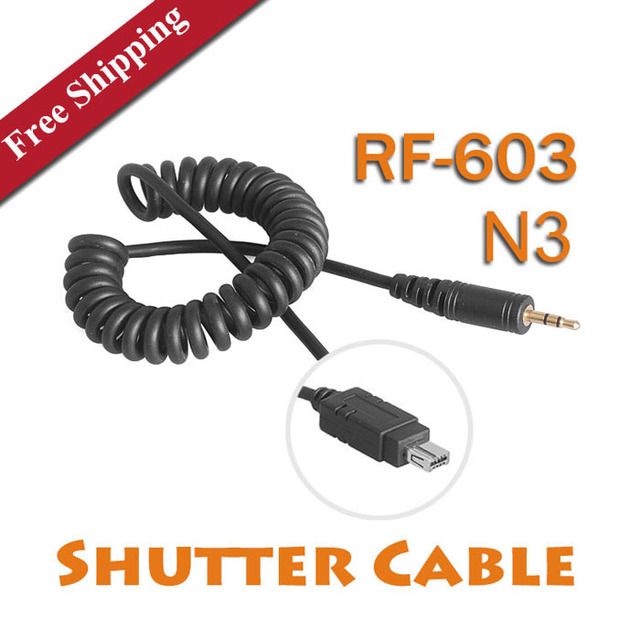 Yongnuo RF-603 N3 Shutter Cable Singel Shutter Release Cable for Nikon D90 D5000 D3100 D7000 Free Shipping Studio Accessories