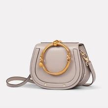 LACATTURA 2019 Bags Luxury Paris Brand Designer Women Handbags Genuine Leather Popular Lady Shoulder Bag Fashion Nile Saddle