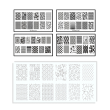 New Plastic Stamping Nail Art Plates Engineering Resin for Green Stencils Scraper Stamp Tool NEB