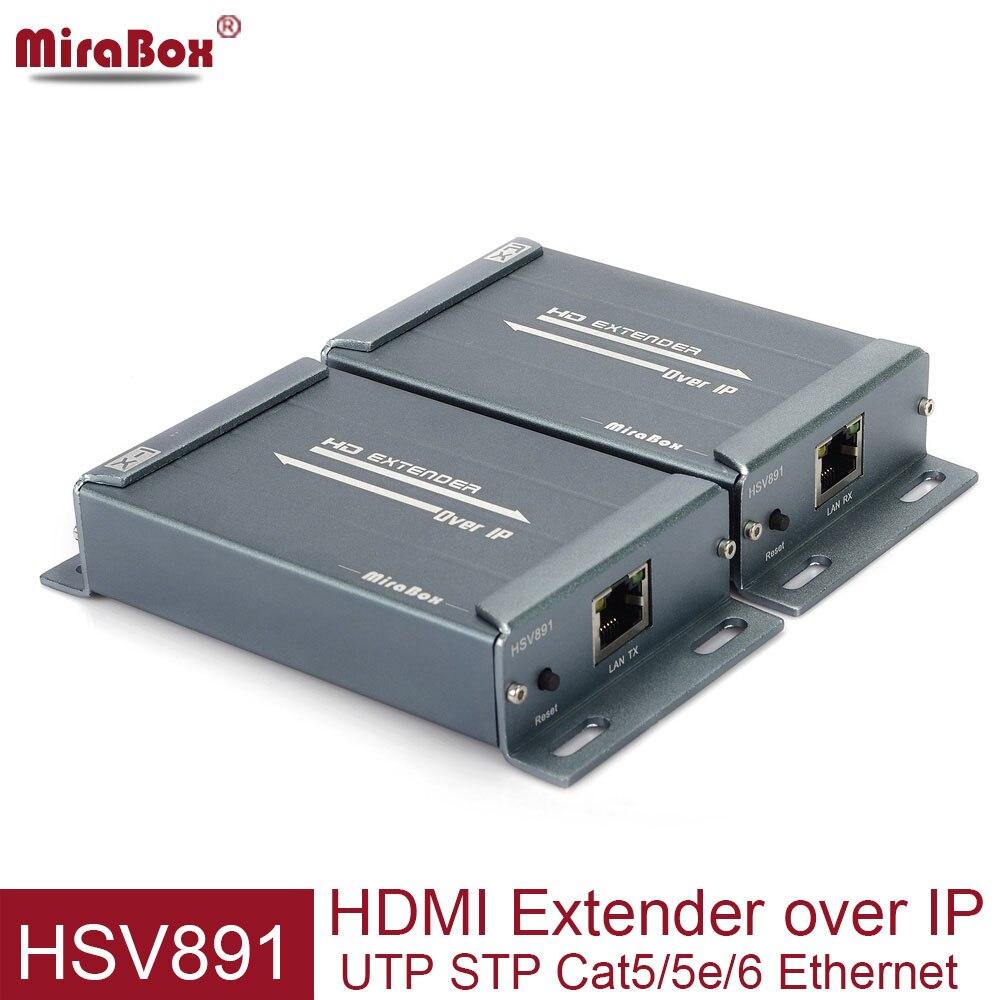 MiraBox HSV891 HDMI Extender sobre IP TCP 150 m FUll HD 1080 p via UTP STP Cat5/5e/ cat6 por Rj45 HDMI Transmissor e Receptor